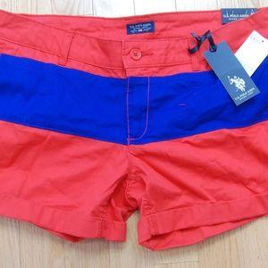 US Polo Assn. Women's Red Shorts